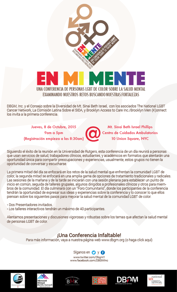 In My Mind: A LGBT People of Color Mental Health Conference