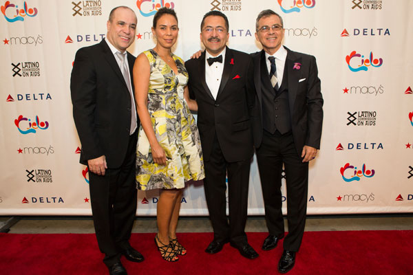 Oscar Hernandez, Spanish Harlem Orchestra; Dineen Garcia, Macy's; Guillermo Chacon, Latino Commission on AIDS and Roy Cosme, Arcos Communications